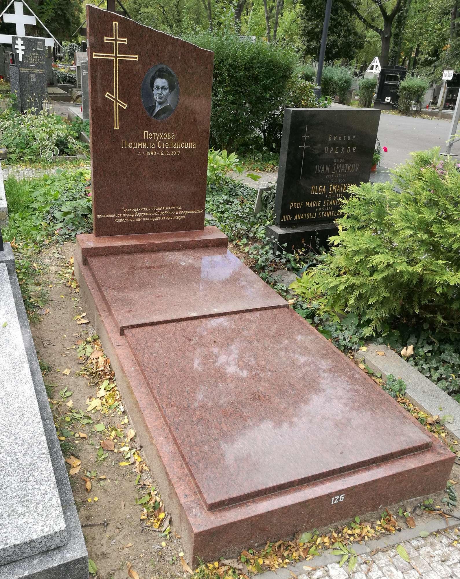 Hrob na Olšanských hřbitovech